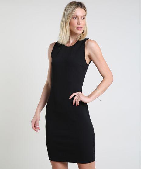 Vestido-Feminino-Basico-Curto-Sem-Manga-Preto-9832640-Preto_1