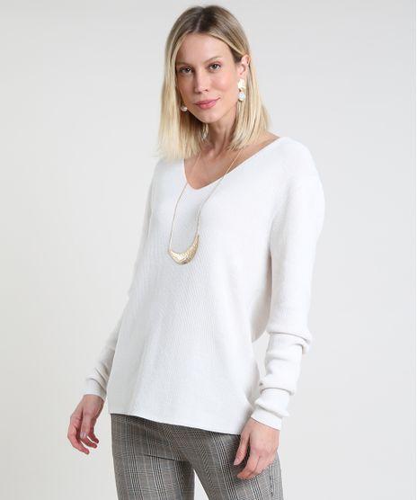 Sueter-Feminino-em-Trico-Canelado-Decote-V-Branco-9808728-Branco_1