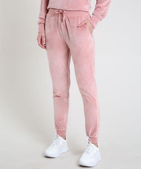 Calca-Feminina-Basica-Esportiva-Ace-Cintura-Alta-em-Plush-Rosa-9802181-Rosa_1