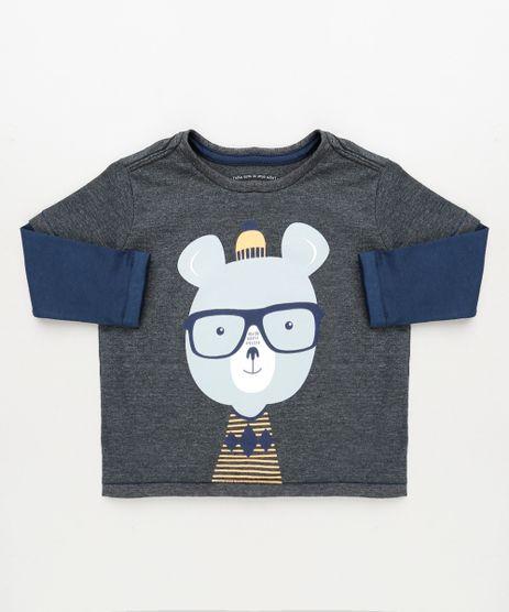Camiseta-Infantil-Urso-Nerd-Manga-Longa-com-Sobreposicao-Chumbo-9946609-Chumbo_1