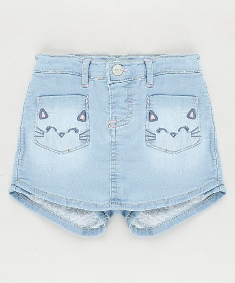 Short-Saia-Jeans-Infantil-com-Bolsos-de-Gatinho-Azul-Claro-9933307-Azul_Claro_1