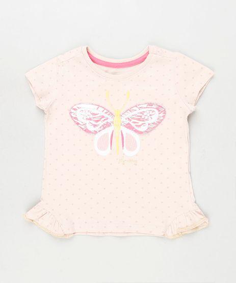 Blusa-Infantil-Estampada-de-Poa-com-Borboleta-Manga-Curta-Rosa-Claro-9919475-Rosa_Claro_1