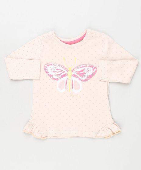 Blusa-Infantil-Estampada-de-Poa-com-Borboleta-Manga-Longa-Rosa-Claro-9927036-Rosa_Claro_1