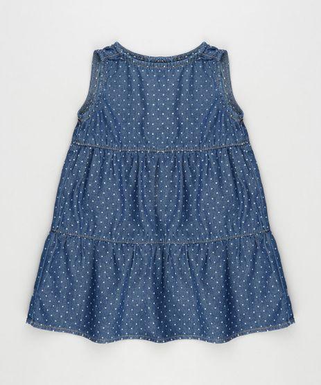 Vestido-Jeans-Infantil-Estampado-de-Poa-Sem-Manga-Azul-Escuro-9933306-Azul_Escuro_1