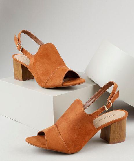 Sandal-Boot-Feminina-Oneself-Salto-Grosso-Medio-em-Suede-Cobre-9945369-Cobre_1