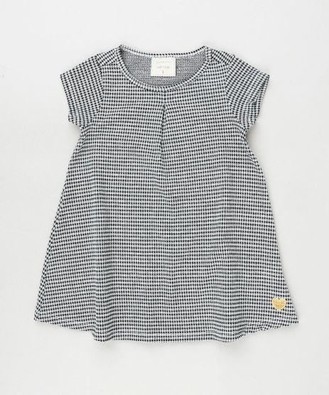 Vestido-Infantil-Estampado-Quadriculado-Manga-Curta-Preto-9909925-Preto_1