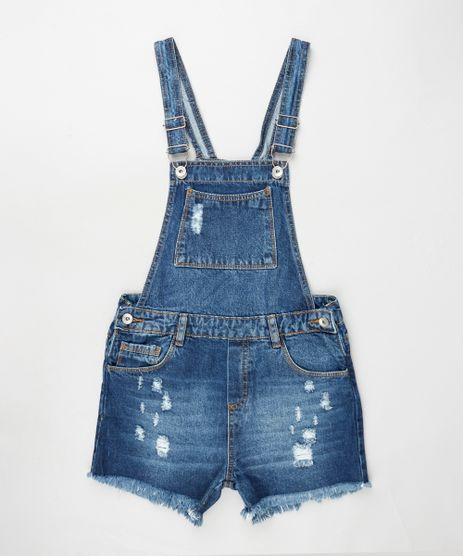 Jardineira-Jeans-Infantil-Destroyed-com-Barra-Desfiada-Azul-Escuro-9928606-Azul_Escuro_1