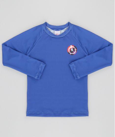 73898da89 Camiseta Capitão América com Proteção UV 50 Azul - cea