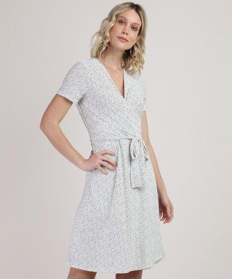 Vestido-Feminino-Curto-Estampado-de-Poa-com-Transpasse-e-Amarracao-Manga-Curta-Branco-9859743-Branco_1