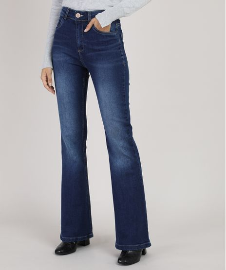 Calca-Jeans-Feminina-Flare-Cintura-Alta-Azul-Escuro-9944891-Azul_Escuro_1