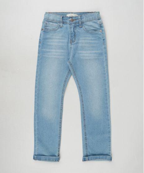 Calca-Jeans-Infantil-Reta-com-Bolsos-Azul-Medio-9937418-Azul_Medio_1