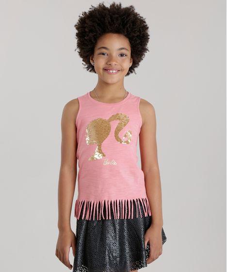 Regata-Barbie-com-Paete-Dupla-Face-Rosa-8686344- ... f7bc4b4b854