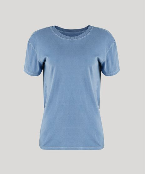 T-Shirt-Feminina-Mindset-Manga-Curta-Decote-Redondo-Azul-9946187-Azul_1