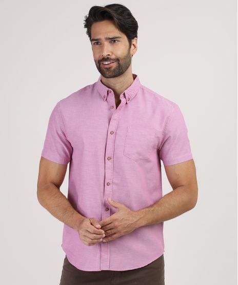 Camisa-Masculina-Comfort-com-Bolso-Manga-Curta-Lilas-9809555-Lilas_1