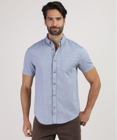 Camisa-Masculina-Comfort-com-Bolso-Manga-Curta-Azul-9809555-Azul_1
