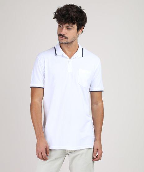 Polo-Masculina-Basica-Comfort-em-Piquet-com-Bolso-Manga-Curta-Branca-9728137-Branco_1