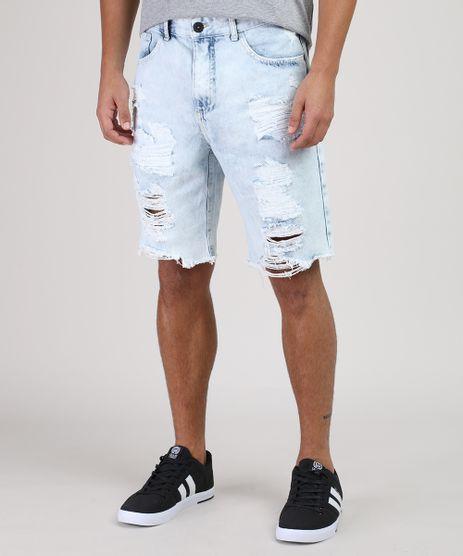 Bermuda-Jeans-Masculina-Slim-Destroyed-Azul-Claro-9899286-Azul_Claro_1