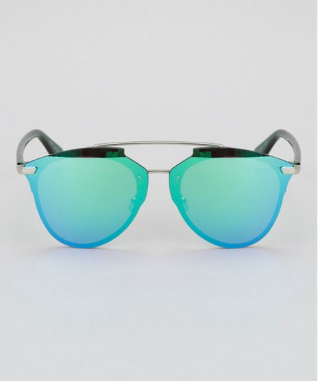 Oculos-de-Sol-Redondo-Feminino-Oneself-Verde-8732551- 654192a00f