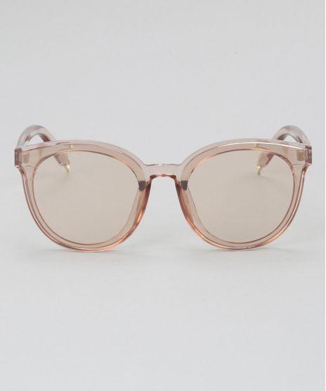 Oculos-de-Sol-Redondo-Feminino-Oneself-Bege-Claro-8732581-Bege_Claro_1