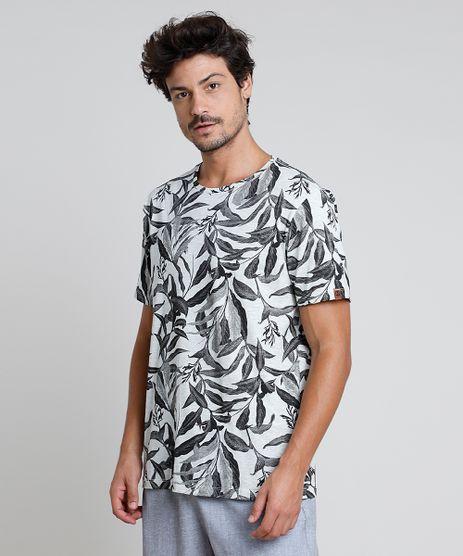 Camiseta-Masculina-BBB-Estampada-de-Folhagem-Manga-Curta-Gola-Careca-Cinza-Mescla-Claro-9873449-Cinza_Mescla_Claro_1