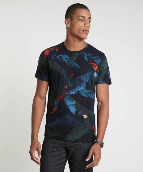 Camiseta-Masculina-BBB-Estampada-de-Tucano-Manga-Curta-Gola-Careca-Preta-9893923-Preto_1