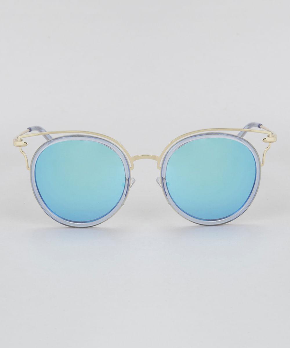 6ca2f54eb969d ... Oculos-de-Sol-Redondo-Feminino-Oneself-Dourado-8732525-