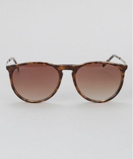 Oculos-de-Sol-Redondo-Feminino-Oneself-Tartaruga-8628920- ... 230ae13e3d
