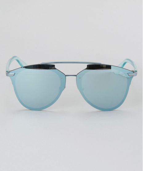 Oculos-de-Sol-Redondo-Feminino-Oneself-Azul-Claro- 45af2e6b9f