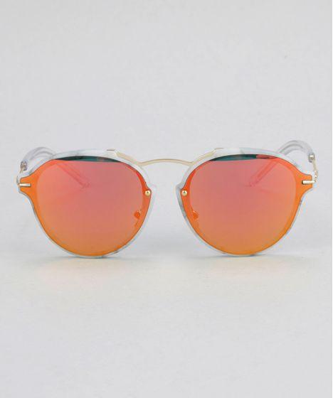 ab2046966f766 Oculos-de-Sol-Redondo-Feminino-Oneself-Branco-8732569- ...