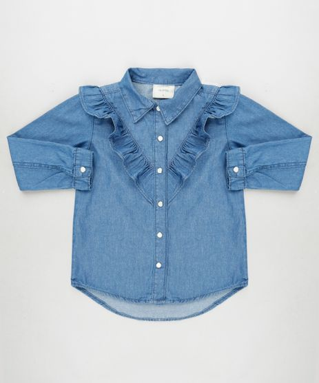 Camisa-Jeans-Infantil-com-Babados-Manga-Longa-Azul-Medio-9935383-Azul_Medio_1