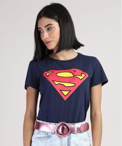 Blusa-Feminina-Super-Homem-Manga-Curta-Decote-Redondo-Azul-Marinho-9942655-Azul_Marinho_1