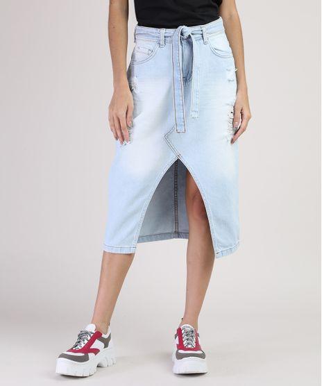 Saia-Jeans-Feminina-Midi-Destroied-com-Faixa-Azul-Claro-9945393-Azul_Claro_1