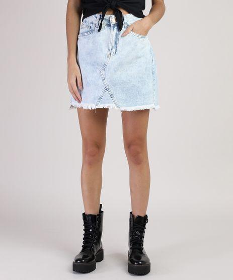 Saia-Jeans-Feminina-Curta-Recorte-e-Barra-Desfiada-Azul-Claro-9933827-Azul_Claro_1
