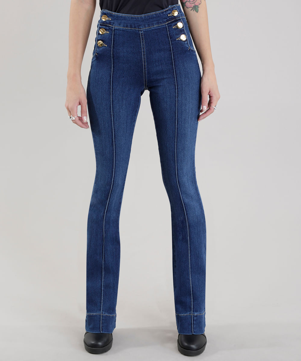 ... Calca-Jeans-Flare-Sawary-Azul-Medio-8657264-Azul Medio 1 4d1bd1bcafb