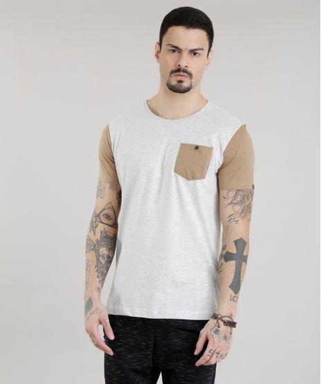 46144fa3cc09c Camiseta-com-Bolso-Cinza-Mescla-Claro-8677641-Cinza Mescla Claro 1