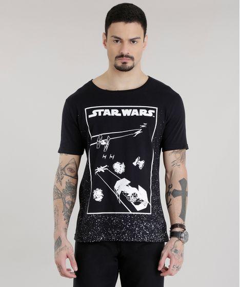 Camiseta-Star-Wars-Preta-8681158-Preto 1 ... 7ff28a9845a64