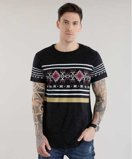 Camiseta-Longa-com-Estampa-Etnica-Preta-8581237-Preto 1 8647af642bd