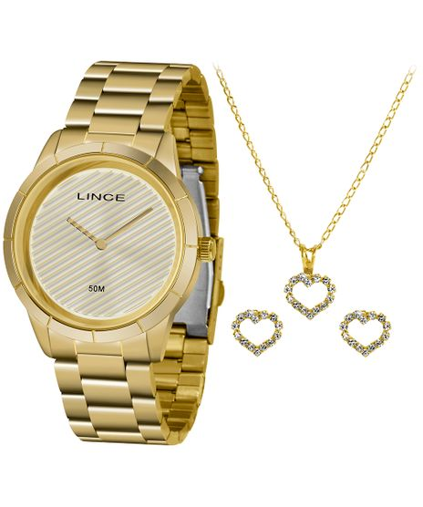 Kit-de-Relogio-Analogico-Lince-Feminino---Brinco---Colar---LRG625L-KK11C1KX-Dourado-9884695-Dourado_1