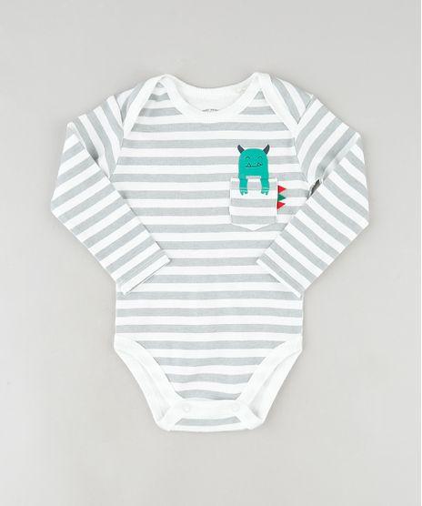 Body-Infantil-Listrado-com-Monstrinho-no-Bolso-Manga-Longa-Branco-9849502-Branco_1