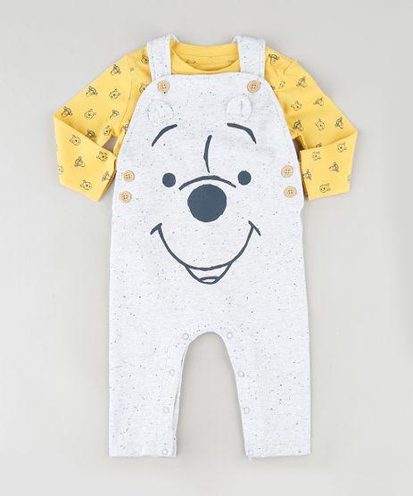 Conjunto-Infantil-Ursinho-Pooh-de-Body-Estampado-Manga-Longa-Mostarda---Macacao-Cinza-Mescla-Claro-9851544-Cinza_Mescla_Claro_1