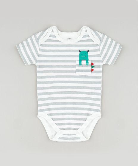 Body-Infantil-Listrado-com-Monstrinho-no-Bolso-Manga-Curta-Branco-9849497-Branco_1