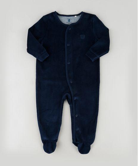 Macacao-em-Plush-Infantil-com-Pezinho-Manga-Longa-Azul-Escuro-9757311-Azul_Escuro_1