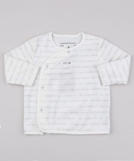 Cardigan-Infantil-em-Plush-Listrado-com-Botoes-Off-White-9688057-Off_White_1