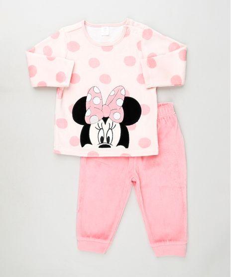 Conjunto-Infantil-Minnie-de-Blusa-Poa-Manga-Longa---Calca-em-Plush-Rosa-9839841-Rosa_1