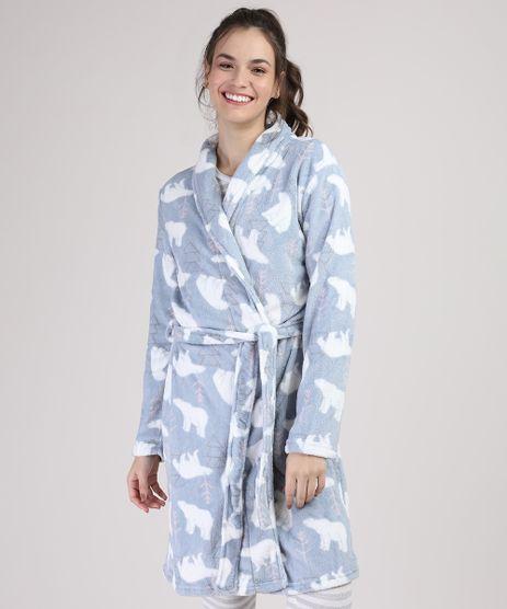 Roupao-de-Plush-Feminino-Estampado-de-Urso-Azul-Claro-9900213-Azul_Claro_1