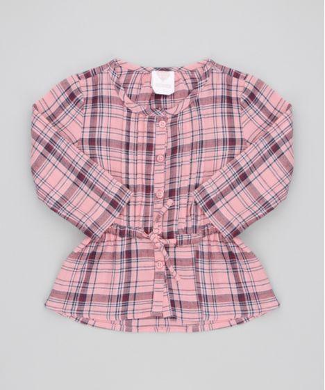 31e48eb62 Camisa-Xadrez-Rosa-8447565-Rosa_1 ...