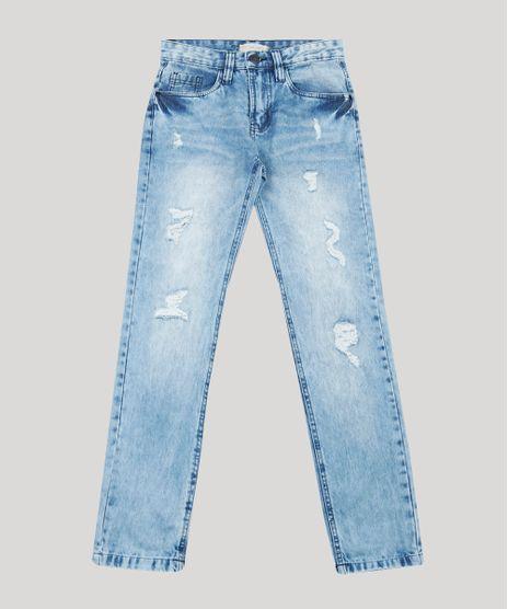 Calca-Jeans-Infantil-Skinny-com-Rasgos-Azul-Claro-9886334-Azul_Claro_1