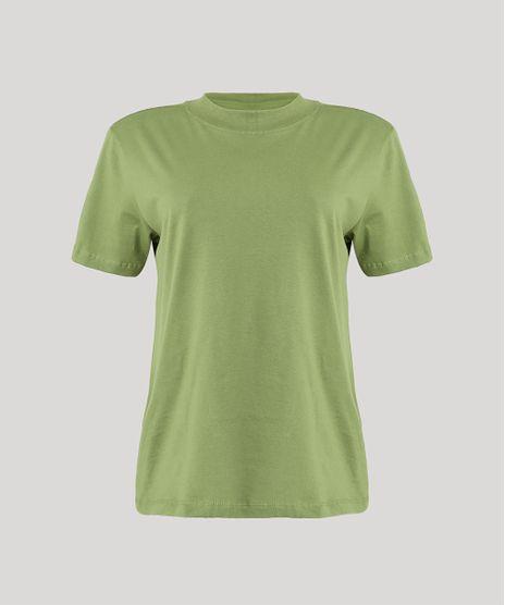 T-Shirt-Feminina-Mindset-Manga-Curta-Decote-Redondo-Verde-Medio-9394894-Verde_Medio_1