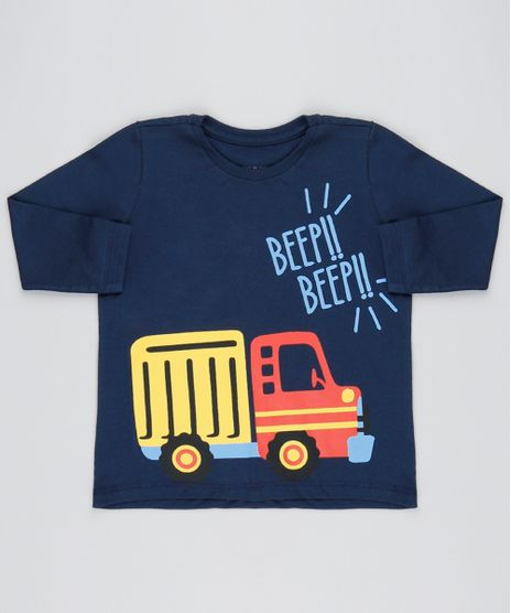Camiseta-Infantil-Caminhao--Beep-beep--Manga-Longa-Azul-Marinho-9501794-Azul_Marinho_1