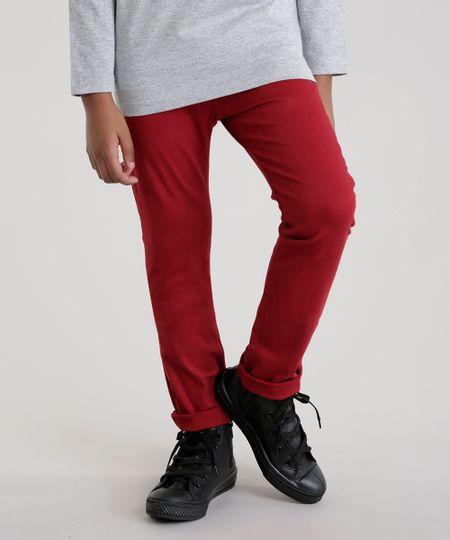 23755ddaf Menor preço em Calça Color Infantil Slim em Algodão + Sustentável Vermelha